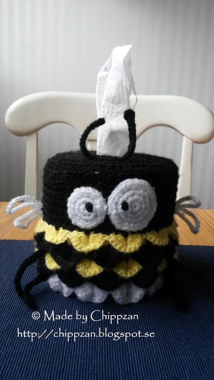Bumble Bee toarullshållare   Craftsy