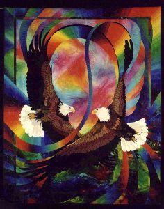 Duet #2 © 1997, art quilt by Caryl Bryer Fallert, Paducah KY