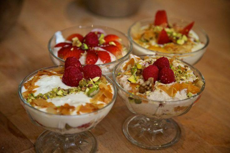 Greek Easter Feast with Tonia Buxton & Total Greek Yoghurt Greek Lamb Pattie Tray Bake recipe  #TryTotal, #Bloggerevent