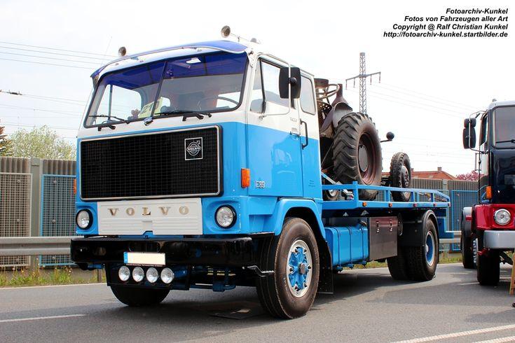 Volvo F 89 Fahrzeugtransporter - LKW, Lastkraftwagen, Abschleppdienst, Pannenhilfe, Schweden - fotografiert am 05.05.2012 in Werdau - Copyright @ Ralf Christian Kunkel