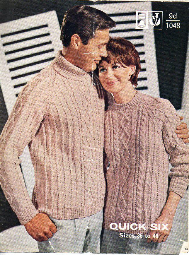 womens mens aran knitting pattern PDF download aran sweaters aran jumpers polo…