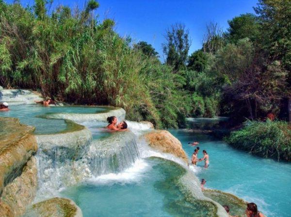 romantischer urlaub zu zweit reiseziel toskana italien Cascate del Mulino