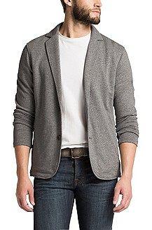 Jersey-Sakko ´Wayn 1` aus Baumwolle, Hellgrau