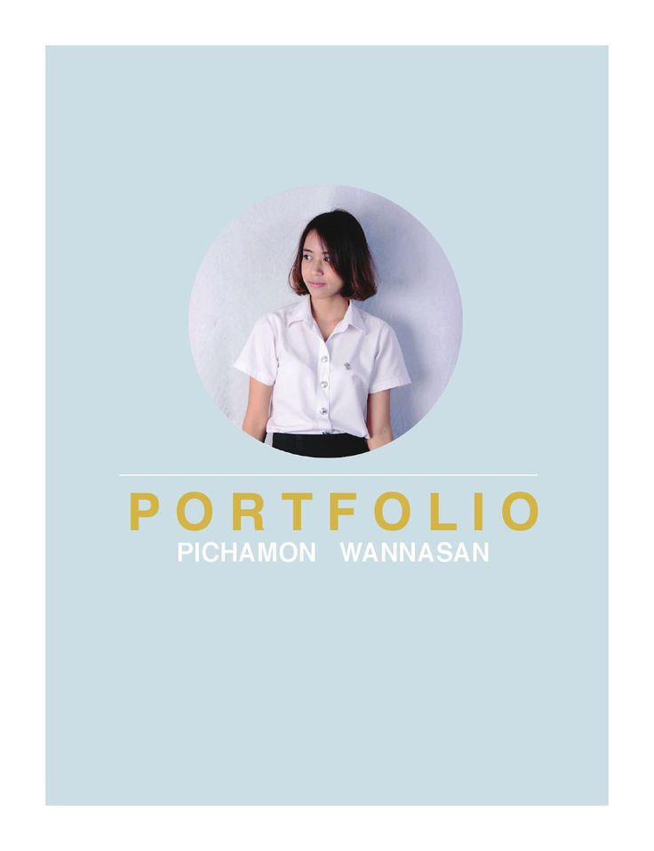 Portfolio of pichamon