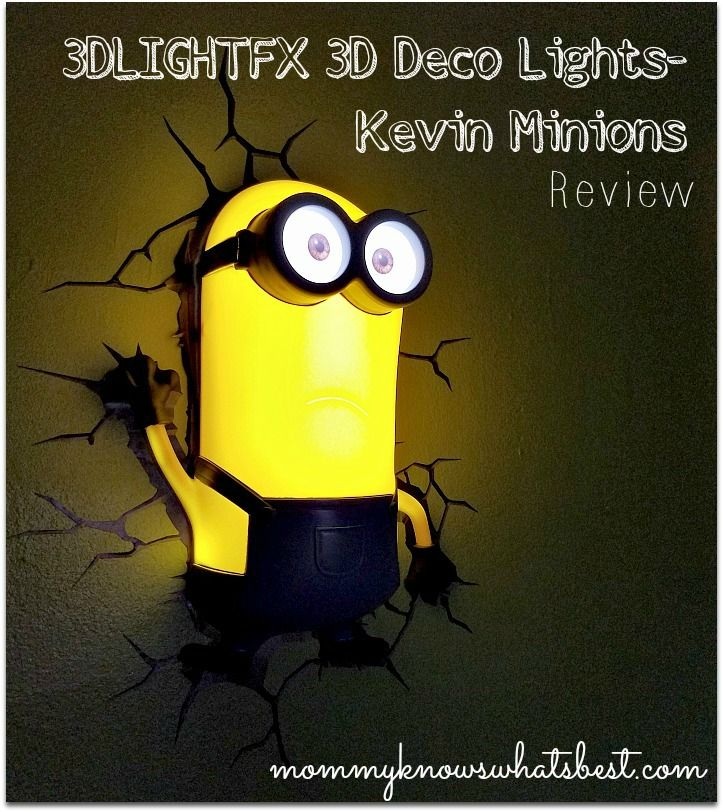 Minion Room Decor from 3DLIGHTFX 3D Deco Lights (Review)