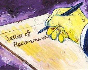 Letter of Recommendation Illustration Careers
