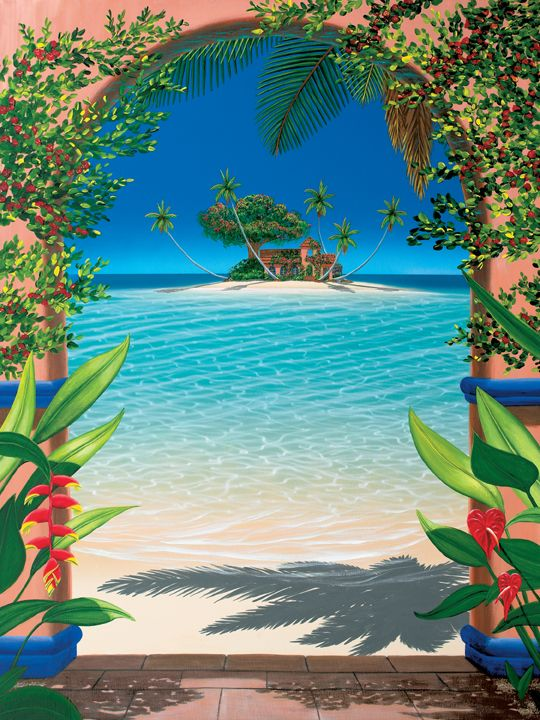 Dan mackin artwork for the home pinterest beautiful for Beach mural painting