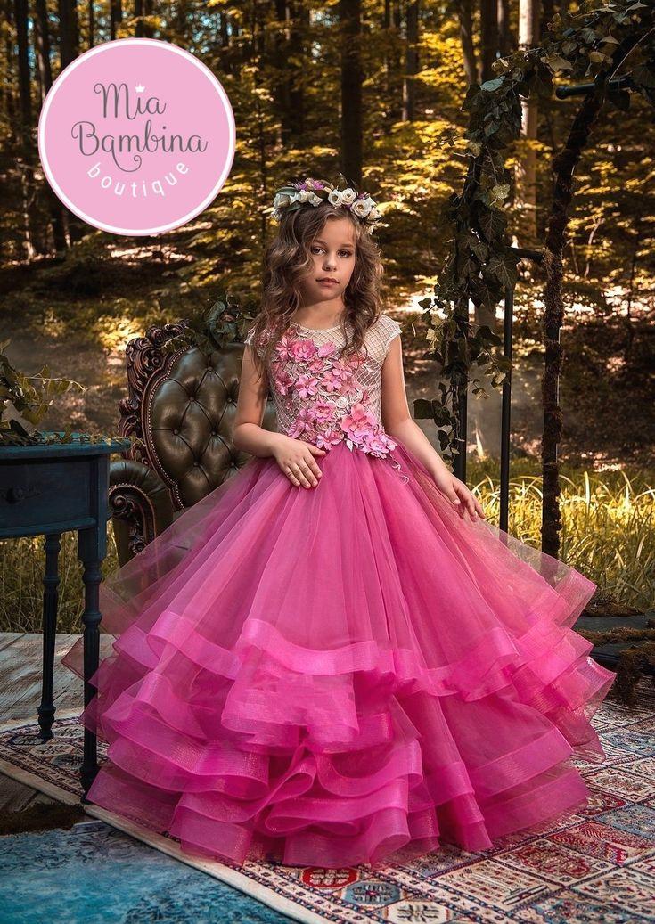 Flower Girl Dresses Casablanca flower girl dress with a