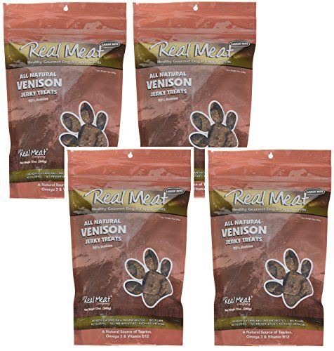 Real Meat Venison Jerky Dog Treats 12oz Pack of 4 (48oz total) >>> Visit the image link for more details. #DogTreats