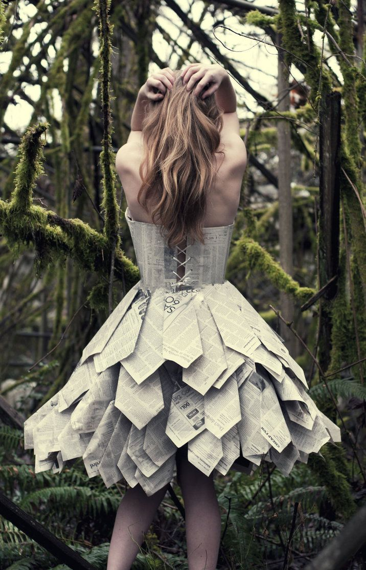 Even though this dress is made from paper, I think it is a fantastic idea for reclaiming ties. Such great design elements.