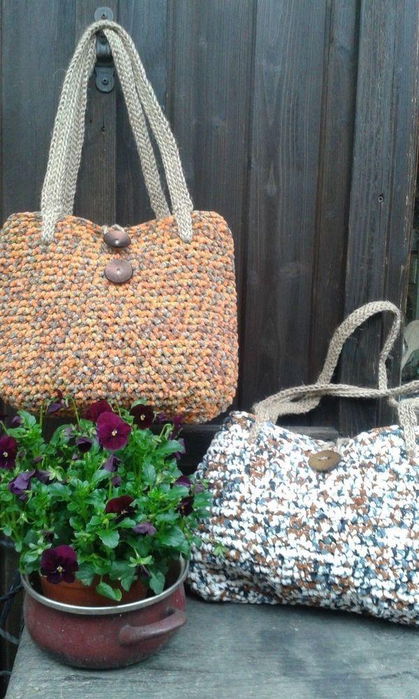 borsa in ciniglia fatta a mano/handmade bag