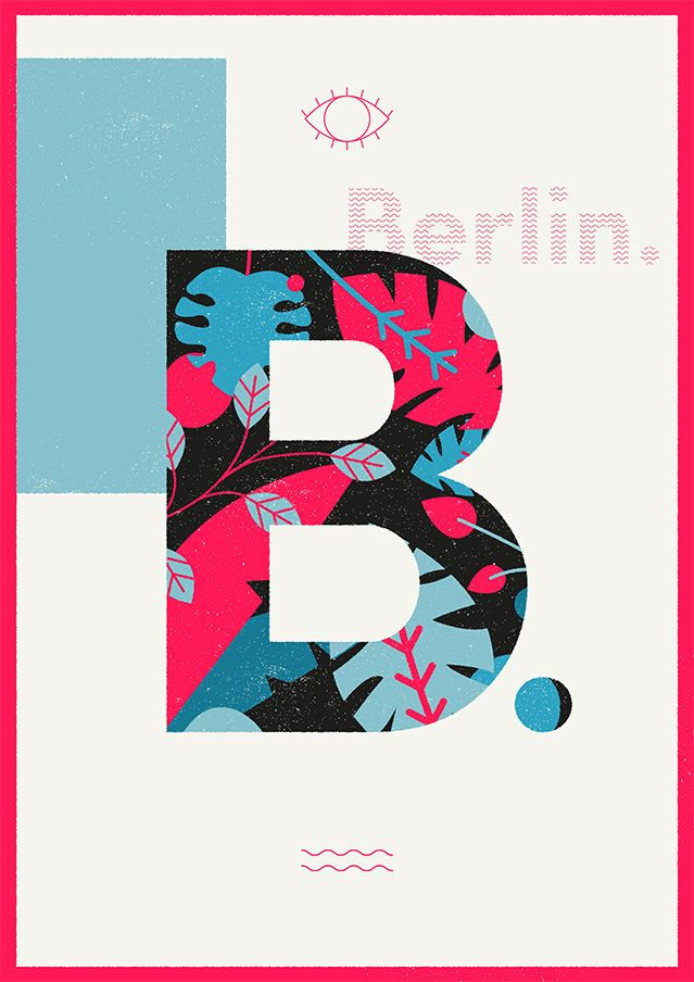 Spring makes me love botanical graphics so I've created this poster with a crazy colour palette, because of the vibe of Berlin. #Berlin #botanical #nature #graphic #illustration #poster #art #graphicdesign #illustrator #illustrations