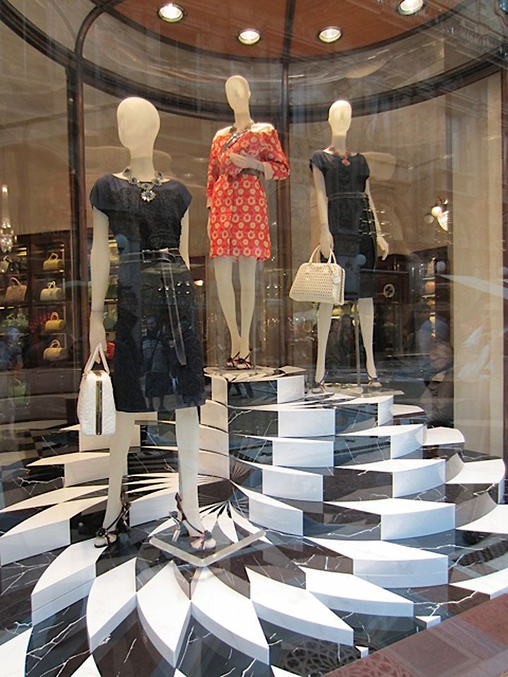 Prada windows, Milan visual merchandising