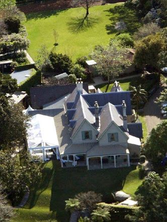 Ariel view of the house and grounds.