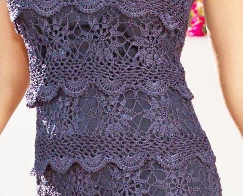 TRICO y CROCHET-madona-mía: Vestidos para mujeres a Crochet Ruso modelos algunos…