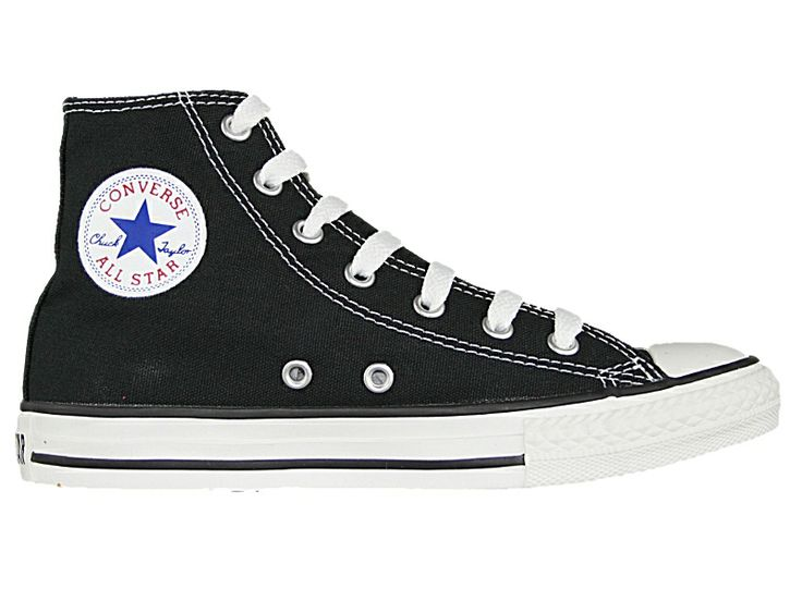 Converse Kids Chuck Taylor All Star Hi Top Sneaker M US Little Kid, Black)  Quality vulcanized rubber sole cotton canvas