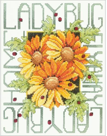 Ladybugs - Stamped Cross Stitch Kit