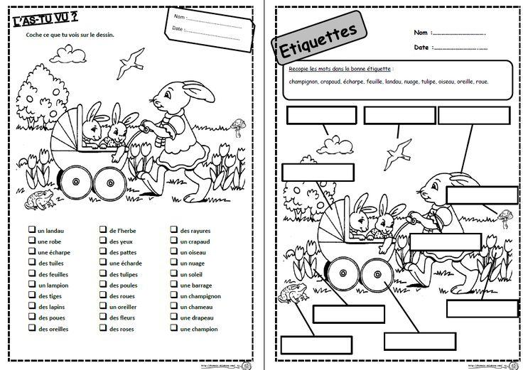 Mots d'avril,paques, lire, lecture, compréhension, mots, phrases, consignes, CP Ce1, CE2, cycle 2, dixmois