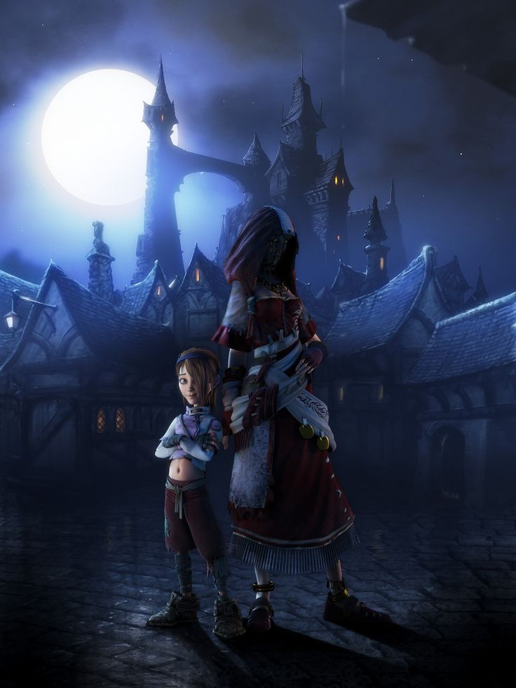 """Fable 2 - Theresa and descendant, the Hero of Bowerstone. """"Take care, Little Sparrow, and remember I am always here, always watching."""" Fable II, Theresa - Zoe Wanamaker"""