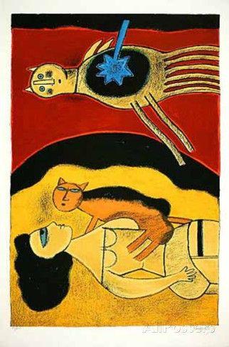 Blauer Stern - by Corneille (1922 – 2010), Dutch