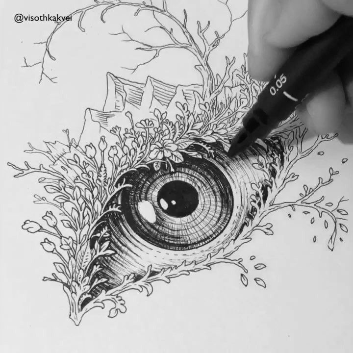 Best 25 cool eye drawings ideas on pinterest eye pencil for Cool detailed drawings