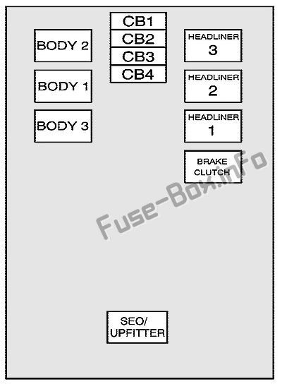 center instrument panel fuse block: cadillac escalade (2007, 2008, 2009,  2010, 2011, 2012, 2013, 2014)