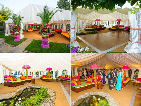 Photo Of A Bollywood Indian Style Marquee For Party In Wimbledon London