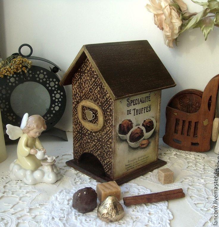 """Чайный домик """"Трюфельно-шоколадный"""" - коричневый,чайный домик,шоколад"""