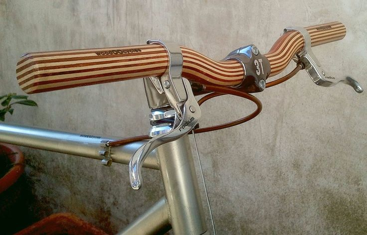 wooden riser bicycle handlebar by WoodOOcycles on Etsy, €100,00