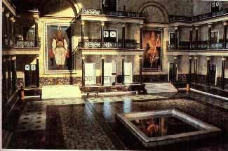 The Great Hall of the ancient Library of Alexandria in Egypt.  Photo is of a reconstruction based on scholarly evidence.