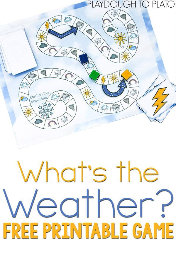 Free Printable Weather Game