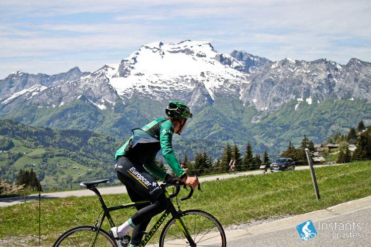 Damien Gaudin (Team Europcar) in the  col de la Croix Fry | Instants Cyclistes