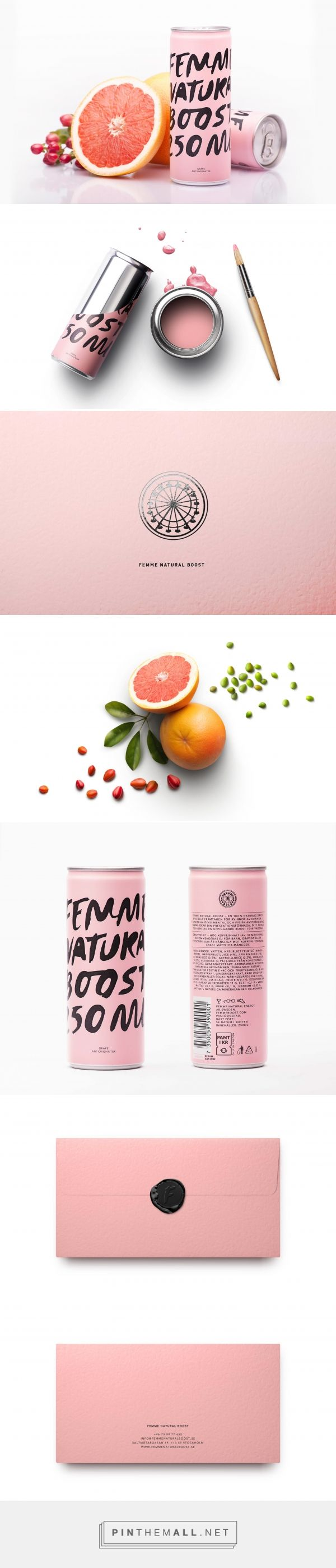 Femme Natural Boost Energy Drink Branding and Packaging by E & W | Fivestar Branding Agency – Design and Branding Agency & Curated Inspiration Gallery