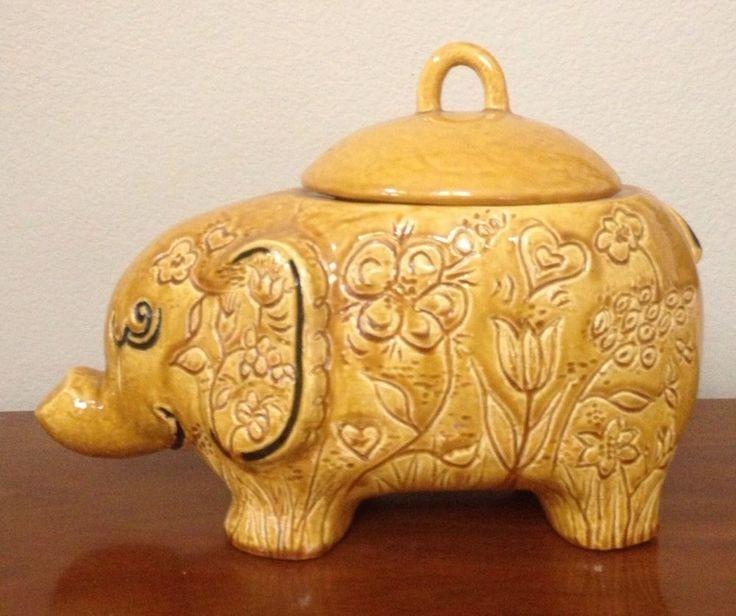893 best images about kookie jars on pinterest jars pottery and raggedy ann - Vintage elephant cookie jar ...