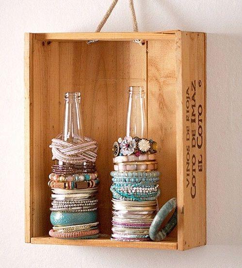 Organizzare i gioielli con vecchi oggetti riciclati