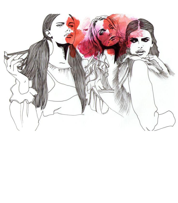 3ladies, por Raquel Botelho t-shirt http://www.vandal.com.br/products/4093-3-ladies