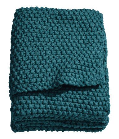Moss-knit Throw, $55.99, H&M US. A great throw in a moody fall color, plus trendy big knit.