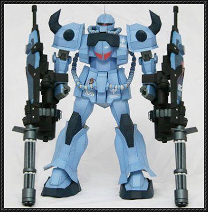 MS-07B-3 Gouf Custom Gundam Paper craft