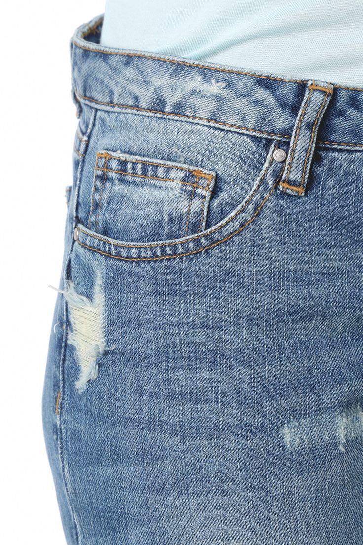 Détail jeans usé #jeans #look #denim #fashion