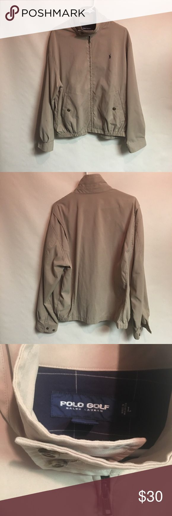 Tan Full Zip Ralph Lauren Polo Golf Jacket Tan Ralph Lauren Polo Golf Jacket. This jacket is a Men's Large. It has been gently worn and is in good condition. Polo by Ralph Lauren Jackets & Coats Bomber & Varsity