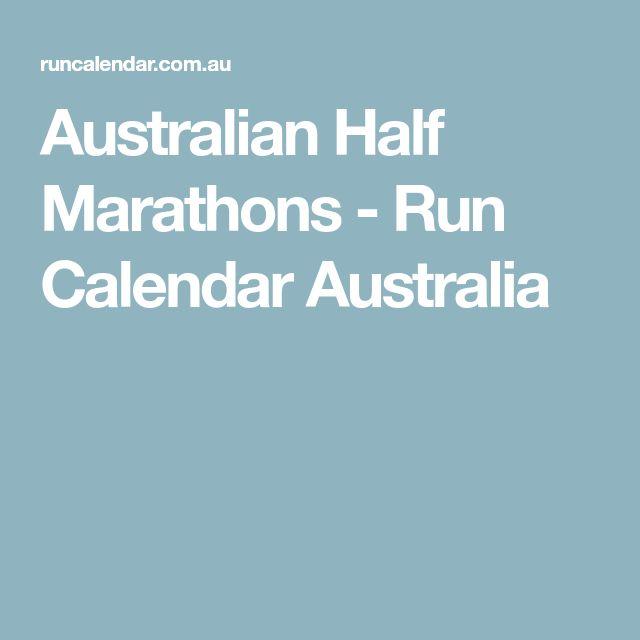 Australian Half Marathons - Run Calendar Australia