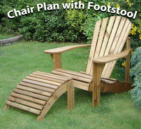 Adirondack Chair Footstool Plans By Alfrescofurniture On