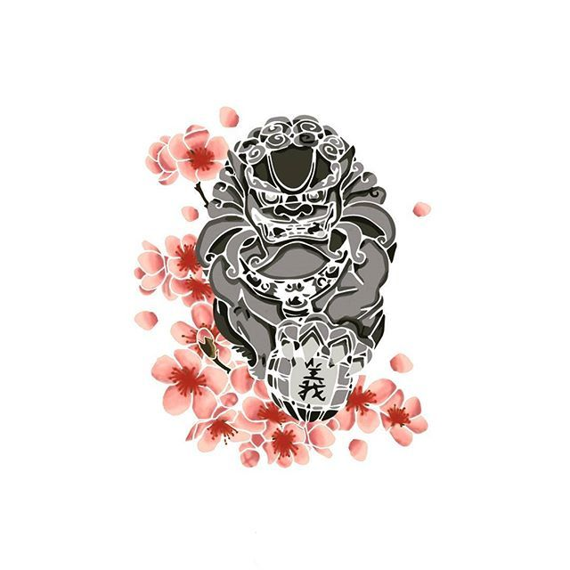 【laulaupium】さんのInstagramをピンしています。 《#fudog #foodog #traditionnaljapan #flower #cherryblossoms #illustration #composition #tablet #tabletgraphic  #creation #creative #passion #love #japan #symbol #protection #drawing  #draw #art #graphicdesigner #design #lifestyle #hobbies》