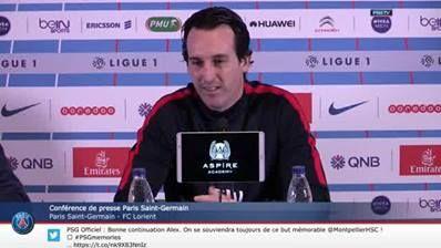 Press conference Paris Saint-Germain - FC Lorient