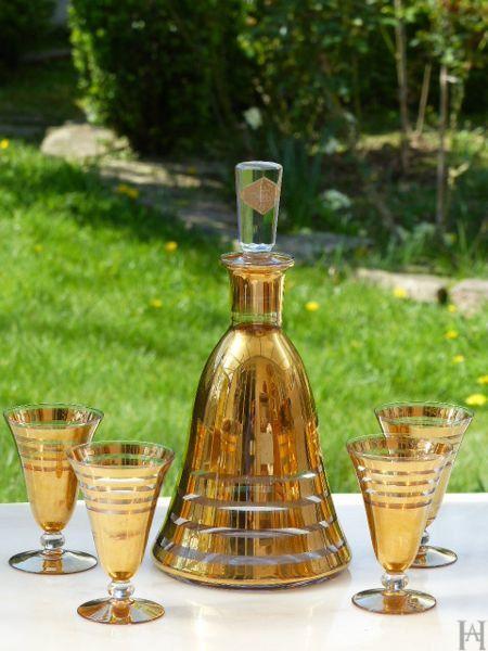 Carafe et verres d'époque ART DECO Verrerie par HistoiresAntiquites