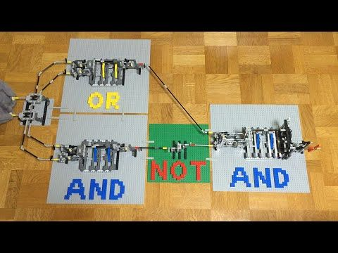レゴの歯車だけで論理演算。NOT、AND、OR組み合わせてXOR。Logic operations using only Lego gears. NOT, AND, OR, XOR - YouTube
