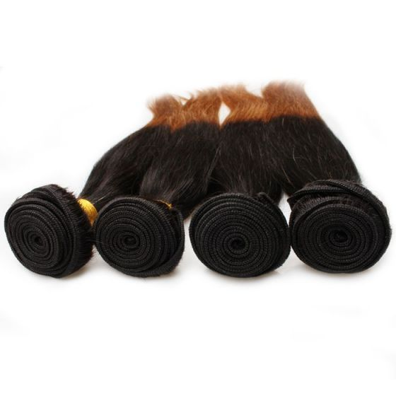 Brazilian Ombre Straight Human Hair Cheap Human Hair Weave 2 Tone Color