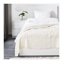 GURLI Plaid, bianco, beige - IKEA
