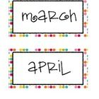 Continuing to plan for the school year? These colorful polka dot calendar month labels are perfect for any organized classroom. They include all of...