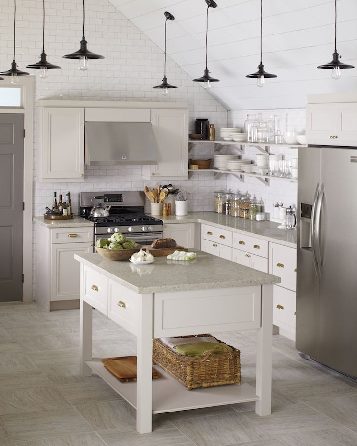 This Gorgeously Gray Kitchen Features Wellston Cabinets In